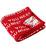 Pluchi All You Need Is Love Baby Blanket in Red & Natural Colour