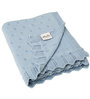 Pluchi Aria Baby Blanket in Sea Blue Colour
