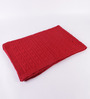 Pluchi Broadway Red Cotton Single Throw Blanket