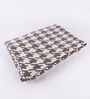 Pluchi Brown Cotton Abstract Throw