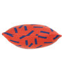 Pluchi Dominos Cushion Pillow in Rusty Red & Marine Colour