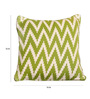 Pluchi Green Cotton 16 x 16 Inch Frey Knitted Cushion Cover