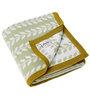 Pluchi Nature Love Baby Blanket in Blush Green & White Colour