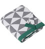 Pluchi On the Hills Natural Knitted Queen-Size in Grey, White & Green Colour