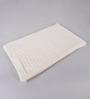 Pluchi White Cotton Twisty Knitted Throw