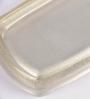 Plumeria Silver Resin Bath Storage 1 Pc