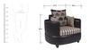 Polar Sofa Set 3+2+1 in Black Color by Arra