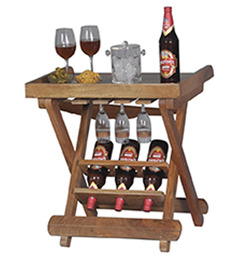 Portable Wine Bottle and Glass Holder