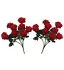 Pollination Red Crimson Artificial Rose Flower Set