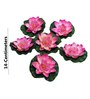 Pollination Dark Pink Synthetic Medium Floating Lotus Artificial Flowers