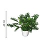 Pollination Green Polyester Split Philo Artificial Plant with Pot