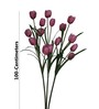 Pollination Pink Tulip Artificial Flowers -Set of 3