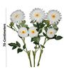 Pollination White Giant Gerbera Artificial Flowers- Set of 3