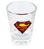 Poppadum Art Superman Shot Glass