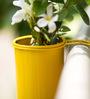 Poppadumart Hang on! Balcony Planter in Sunshine Yellow