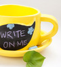 PoppadumArt Writeinoninme Planter in Speech Bubble Yellow