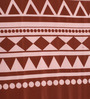 Portico New York Browns Geometric Patterns Cotton King Size Bed Sheets - Set of 3