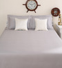 Portico New York Grey Cotton King Size Therapeia Bed Sheet with 2 Pillow Covers