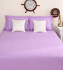 Portico New York Violet Cotton King Size Therapeia Bed Sheet with 2 Pillow Covers