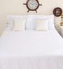 Portico New York White Cotton King Size Therapeia Bed Sheet with 2 Pillow Covers