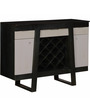 Langley Bar Cabinet in Olive Grey Finish by Woodsworth