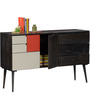 Longview Sideboard in Olive Grey Finish by Woodsworth