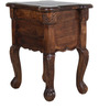 Rutland Bed Side Table in Provincial Teak Finish by Amberville