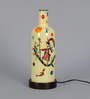 Posh N Plush Handpainted Yellow Glass  Table Lamp