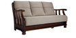 Prestige Sofa Set (3 + 1 + 1) Seater in Steel Grey Colour by Vive