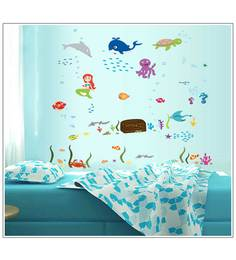 Print Mantras Octopus Fish In Sea For Kids Room Wall Sticker