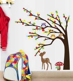 Print Mantras Tree Birds Owl Deer Wall Sticker