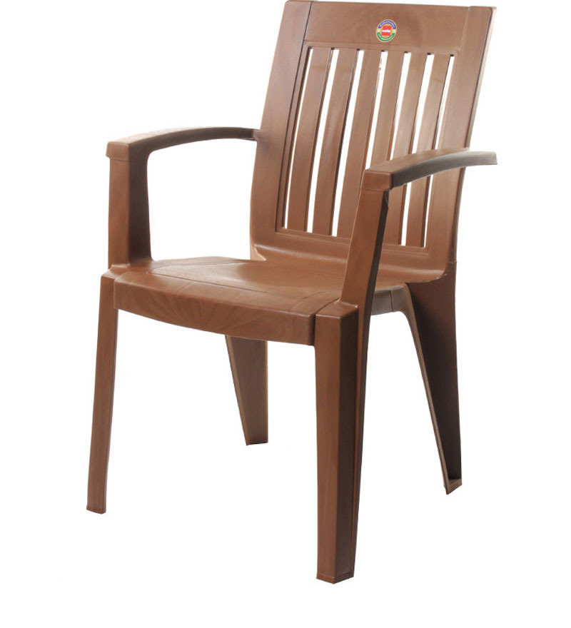 Buy Prominent High Back Chair Set of Two in Sbrown colour