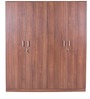 Premier Four Door Wardrobe in Regato Walnut Colour by HomeTown