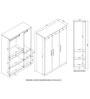 Premier Three Door Wardrobe in Regato Walnut Colour by HomeTown