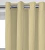 Presto Beige Polyester Solid Door Curtain - Set of 2