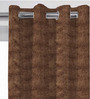 Presto Brown Polyester Curtain - Set of 2