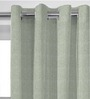 Presto White Polyester 60 x 46 Inch Stripes Window Curtain - Set of 2