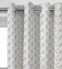 Presto Gold Polyester 84 x 46 Inch Floral Door Curtain - Set of 2