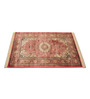 Presto Orange Viscose Rectangular Ethnic Area Rug