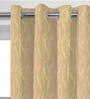 Presto Pink & Gold Polyester 60 x 46 Inch Window Curtain - Set of 2