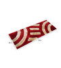 Presto Red & White Polyester 55 x 22 Inch Abstract Bedside Runner