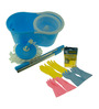 Primeway Sky Blue Stainless Steel and Microfiber 4-piece Gloves and Mop Set