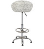 Prince Bar Chair in Print and White Color by The Furniture Store