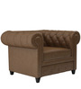 Princeton One Seater Sofa in Chester Tobacco Colour by ARRA