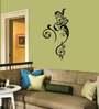 Print Mantras Auspicious and Floral God Ganesha PVC Wall Sticker