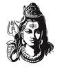 Print Mantras Beautiful God Shiva PVC Wall Sticker
