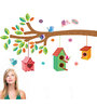Print Mantras Beautiful PVC Wall Stickers Tree Branches Birds Nests