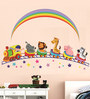Print Mantras PVC Wall Stickers Animals Train and Rainbow