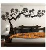 Print Mantras PVC Wall Stickers Black Bonsai Tree