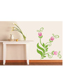 Print Mantras Wall Stickers Beautiful Floral Pink Flowers